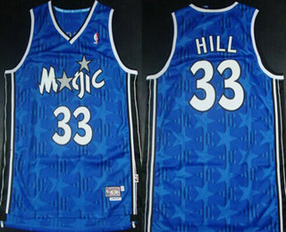 Hot Online Orlando Magic #33 Grant Hill Blue All Star Hardwood Classics Soul Swingman Throwback Jersey FHI3154
