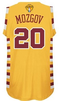 Hot Sale 2016 Clothing Cavaliers #20 Mozgov Finals yellow OZQ220