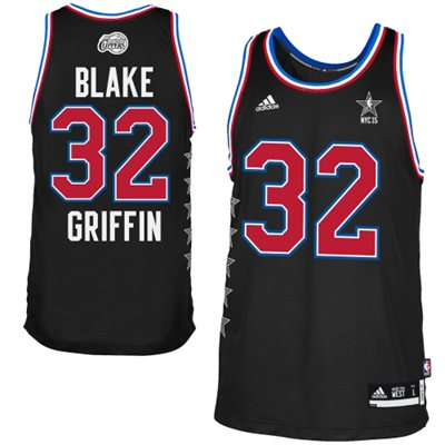 Hot Sale Online Mens Western Conference Blake Griffin Black 2015 All Apparel Star Game Swingman TGH143