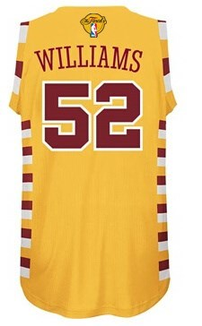 Latest style 2016 Cavaliers Jerseys Finals #52 Williams yellow ZYZ250