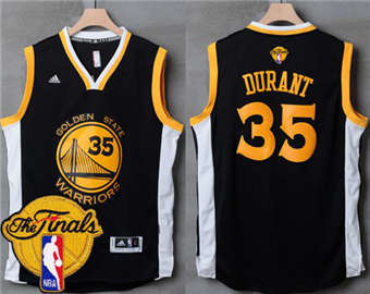 New Arrival Warriors Basketball  35 Kevin Durant Black Slate The Finals  Patch Stitched KJH1861 5450f3f05