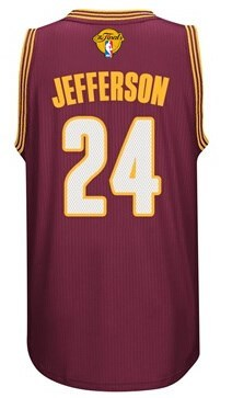 New Cheap 2016 Basketball Cavaliers Finals #24 Jefferson red CUM241