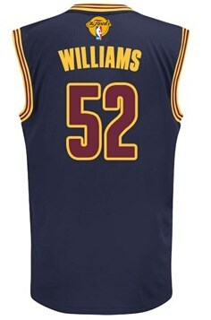 Official 2016 Cavaliers Finals #52 Williams Clothing navy MRX248