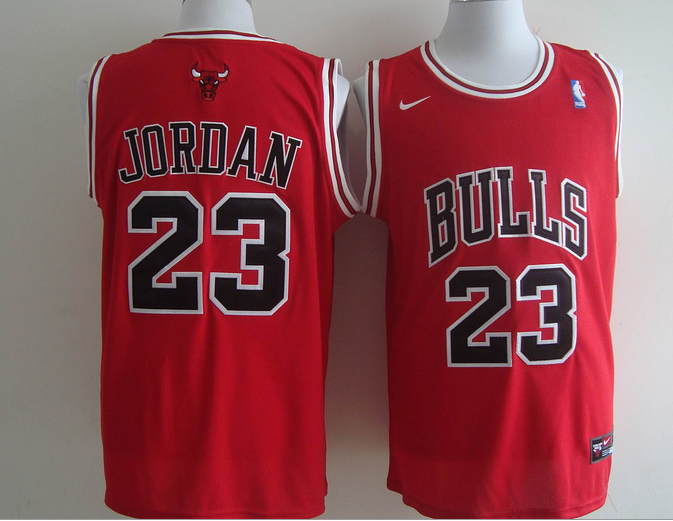 Official Quality Chicago Bulls 23 Michael Jordan Red Basketball (Chicago) Revolution 30 Swingman Suits NNT4217