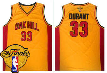 On Sale Warriors #33 Kevin Durant Gold Oak Hill Academy High School The Finals Patch Stitched Basketball UUA1856
