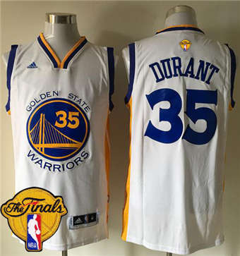 70cb6cda7 Online Cheap Warriors  35 Kevin Durant Black Blue The Finals Merchandise  Patch Stitched QEE1858