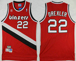 Online Hot Portland Trail Blazers #22 Clyde Drexler Red Hardwood Classics Soul Swingman Merchandise Throwback ILX3472