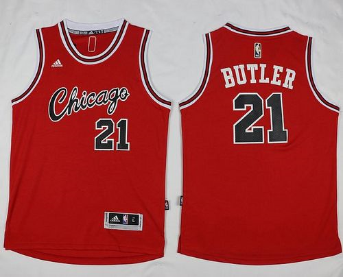 Online sales Chicago Bulls #21 Jimmy Butler Red Hardwood Classics Performance Apparel Stitched PHK715