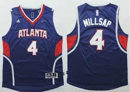Originals Atlanta Hawks 4 Paul Millsap NBA Revolution 30 Swingman Blue CMT390