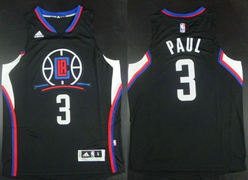 Popular Los Angeles Clippers #3 Chris Apparel Paul Black Alternate Stitched PSJ2273