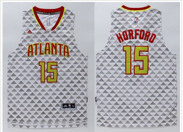 Promotional sale Atlanta Hawks Basketball #15 Al Horford White Swingman Stitched CZP367