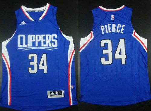 Sale Online Los Angeles Clippers #34 Paul Pierce Clothing Blue Stitched OFF2278