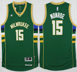 Sale Online Milwaukee Bucks #15 Greg Monroe Revolution 30 Swingman 2015 16 NBA Green LXC2819