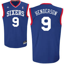 Tailored Men's 76ers #9 Gerald Henderson Replica Royal Clothing Alternate Blue IND3230