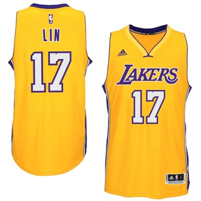 The Cheapest Los Angeles Jerseys Lakers Jeremy Lin Gold 2014 15 Swingman Home EQT2434