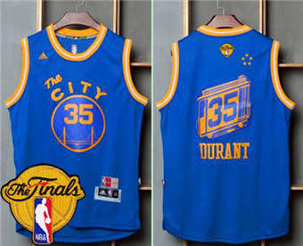 The Cheapest Warriors  35 Kevin Durant Blue Throwback The City The Finals  Jersey Patch Stitched ZAD1868 a1b6e936b