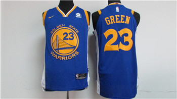 Top Quality Nike Golden State Warriors #23 Draymond Basketball Green Blue 2017 18 Stitched TKE1517