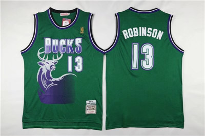 Wholesale Men's Bucks #13 Robinson Green Hardwood Classics Jerseys ZCB2808