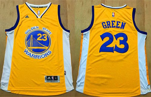 on sale 315cb 812dd Wholesale Warriors #23 Draymond Green Gold Stitched Jerseys ...