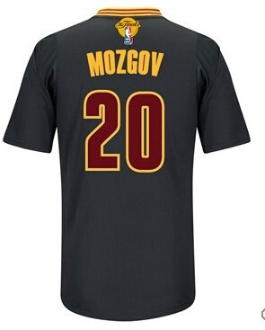 Wholesale price 2016 Cavaliers Finals #20 Mozgov Sleeved Basketball black MLP235