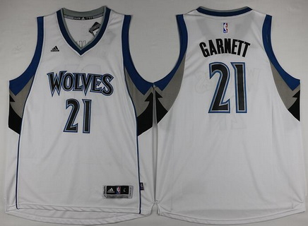 b504c82da Discount Price Minnesota Timberwolves  21 Kevin Garnett Revolution 30 Swingman  Gear White FFR2863