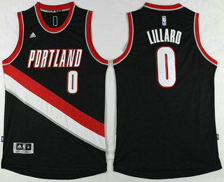 for wholesale Apparel Portland Trail Blazers #0 Damian Lillard Revolution 30 Swingman 2016 Black OGP3484