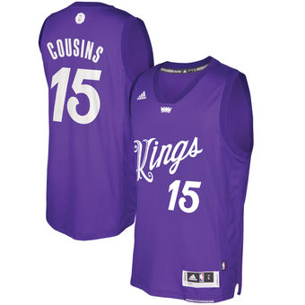 for wholesale Sacramento Kings #15 DeMarcus Cousins Purple Gear 2016 Christmas Day Swingman LIW976