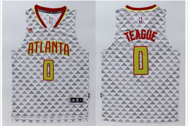 offer more discounts Atlanta Hawks #0 Jeff Teague White Swingman Apparel Stitched BZY365