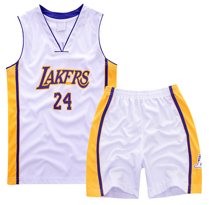 products #24 Kobe bryant Lakers Kids Sets Jersey white RRI4439
