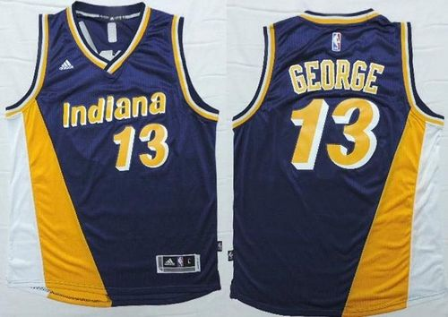 new concept 520a0 c2500 Products Jersey Pacers #13 Paul George Navy Blue/Yellow ...